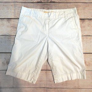 J. Crew Chino City Fit White Bermuda Shorts Size 2